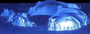 L'Antarctique vue de face selon les clichés établis par le satellite ERS en 1992
