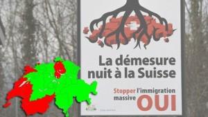 Le oui a été plus important en Suisse alémanique qu'en Suisse romande (RTS)